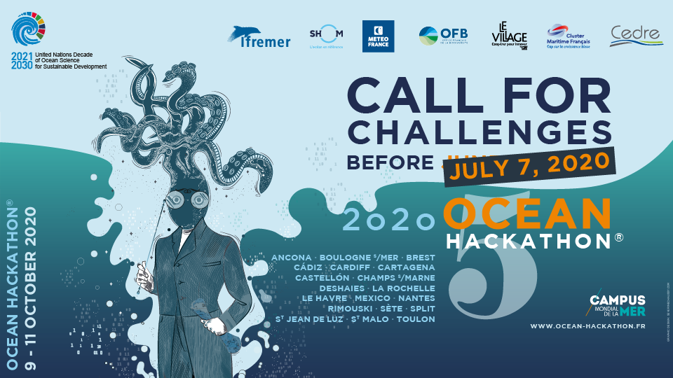 New date for the Ocean Hackathon® 2020 call for challenges
