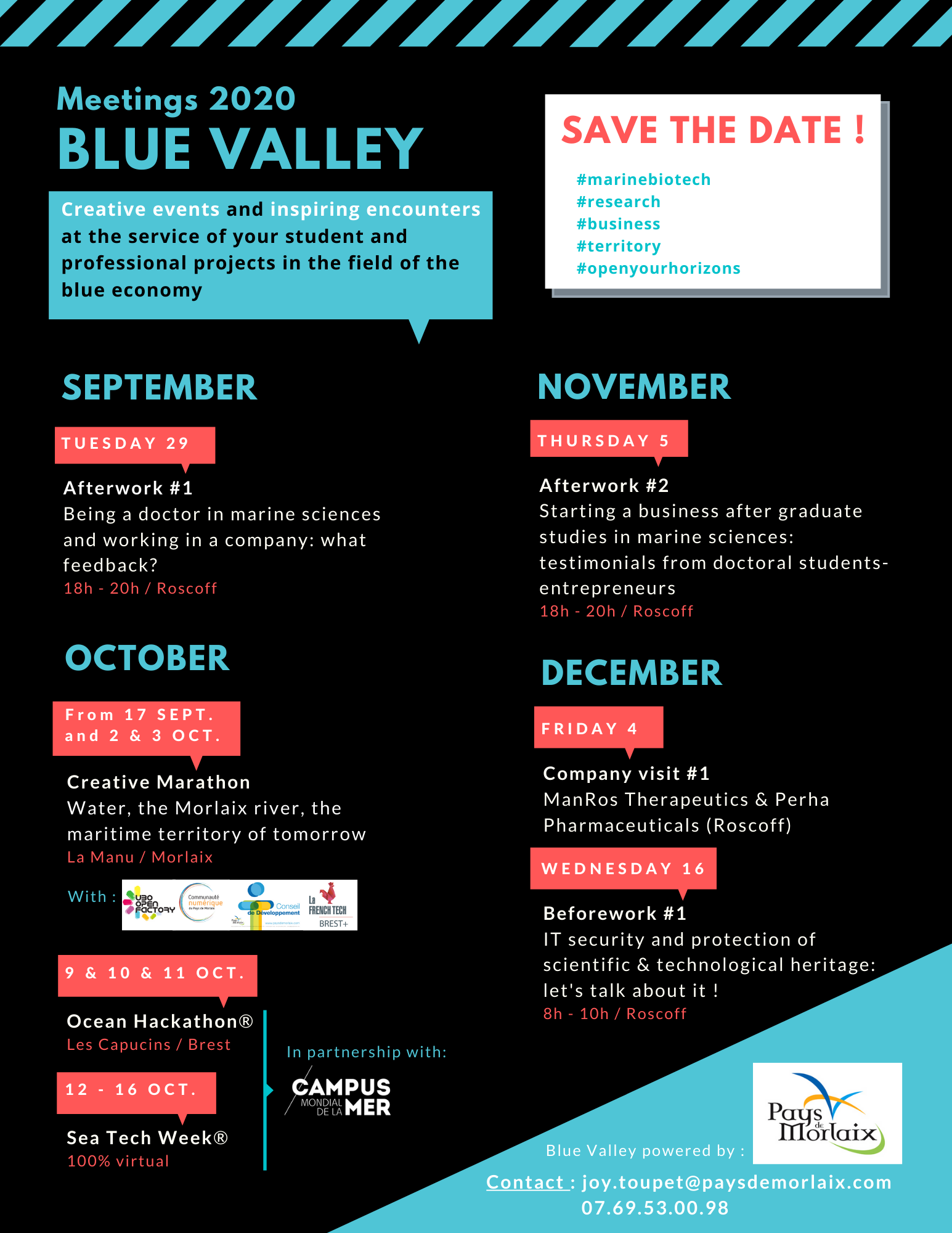 Blue Valley 2020 meetings programme
