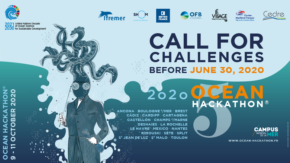 Ocean Hackathon® 2020 Call for Challenges