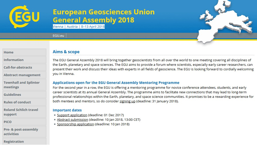 European Geosciences Union General Assembly 2018