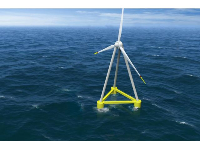 The 1/10 scale floating wind turbine of the 12MW EOLINK concept is operational.