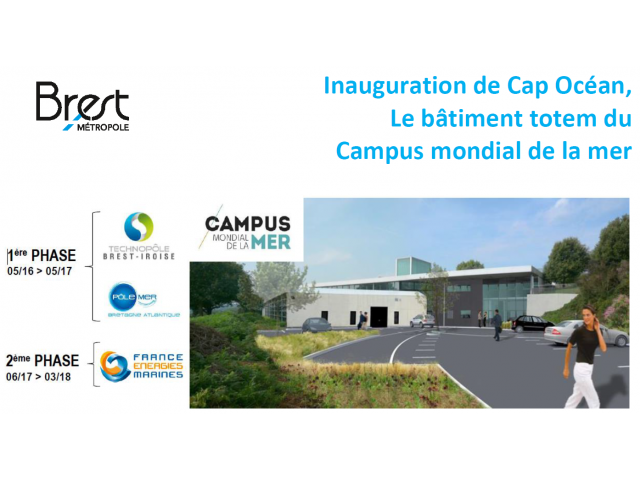 Inauguration of Cap Océan, The totem building of  Campus mondial de la mer