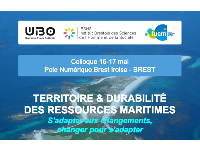 Colloquium on Territories and the sustainability of the exploitation of maritime resources