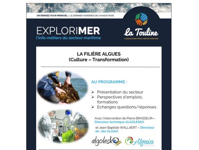 ExploriMer: the algae sector (culture - transformation)