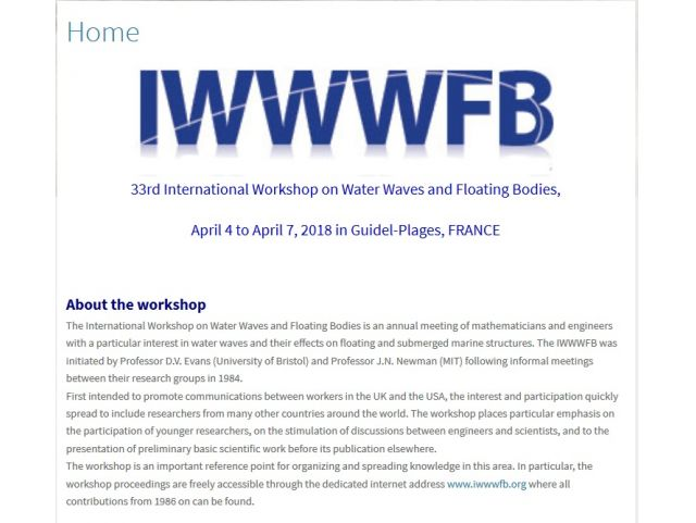 33rd International Workshop on Water Waves and Floating Bodies