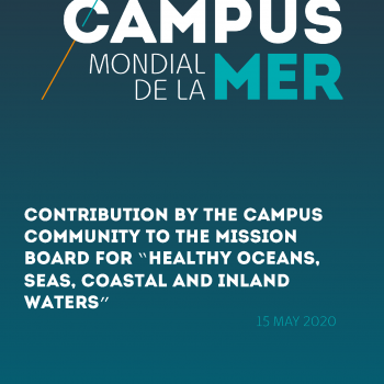 "Contribution by the Campus community to the mission board for ""Healthy oceans, seas, coastal and inland waters"""