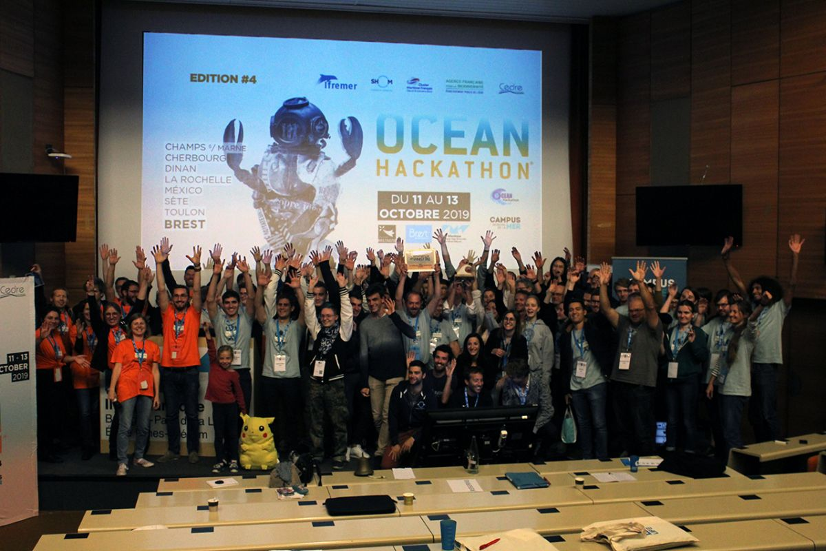 "A look back at Ocean Hackathon® 2019, 4th edition in Brest and 1st in ""multi-site"""